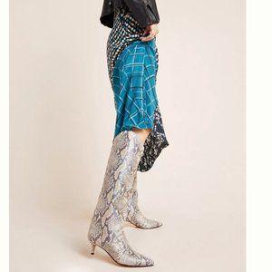Schutz Abbey Snake-Printed Boots